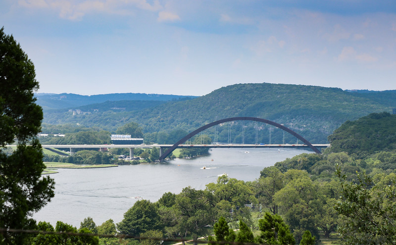Arch bridge over Lake Austin