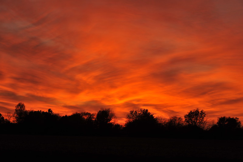 Fiery sunset Indiana