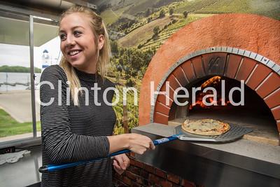 Kelley Girls Woodfire Pizza truck 4-27-17