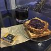 With blackberry jam.