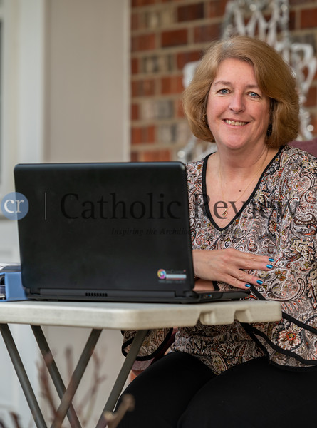 Kelly McDonald, technology teacher at The Catholic High School of Baltimore, is credited with preparing the school for remote learning due to restrictions caused by the coronavirus.<br /> (Kevin J. Parks/CR Staff)