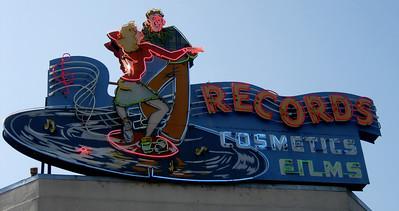 Old tower records sign Sacramento, CA