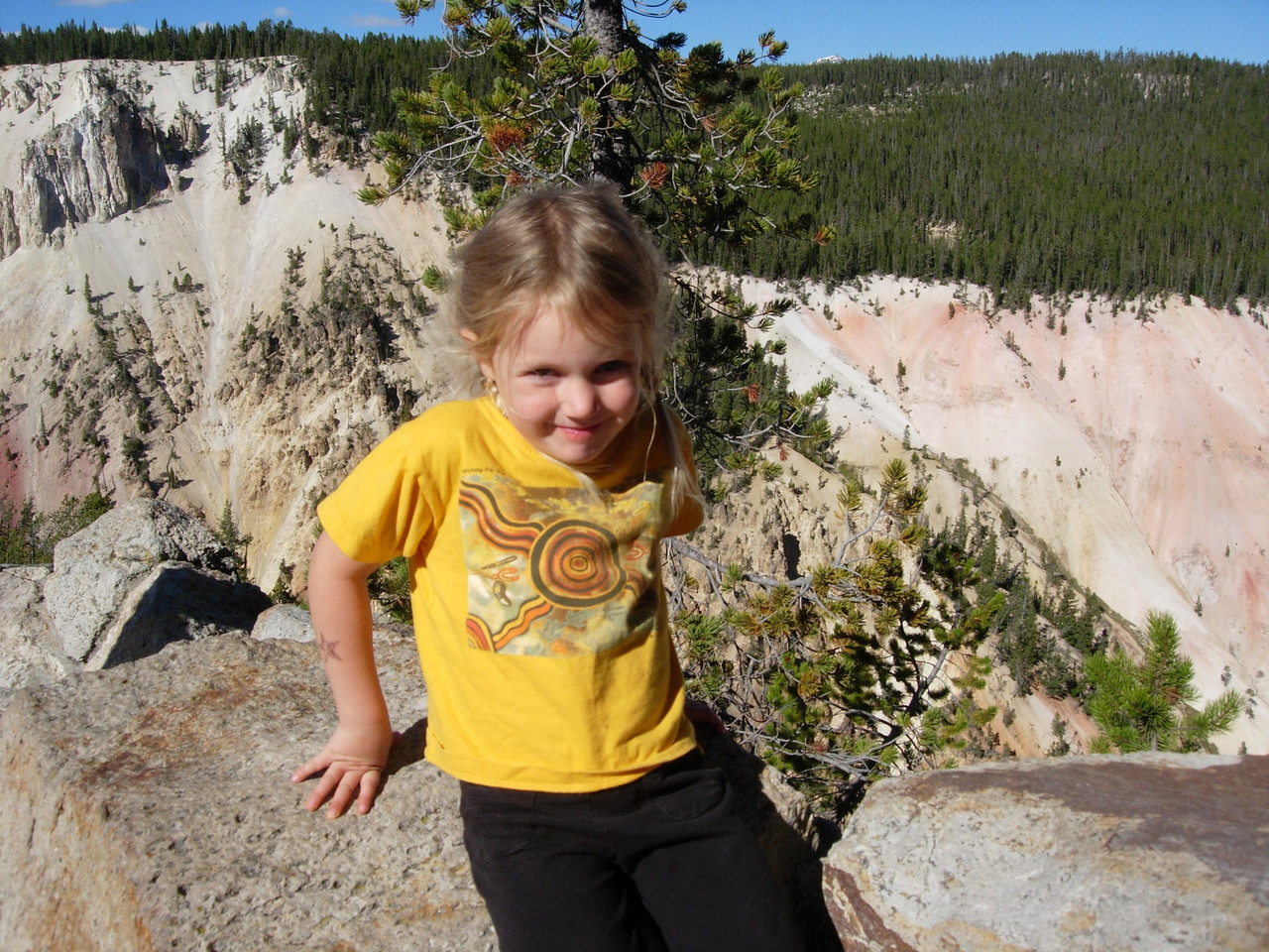 Kelly at the Grand Canyon of YellowstoneYellowstone National Park