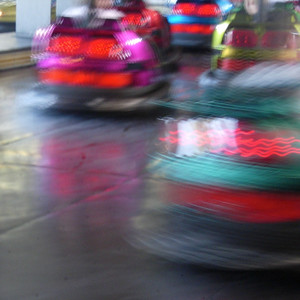 Blurred bumper cars Santa Cruz, CA