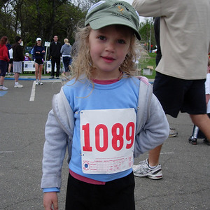 Kelly ready for the Kids race March 2007 4th Sunday Run Lake Merritt Joggers and Striders  Oakland, CA