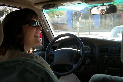 Patty driving