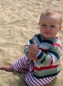 Kelly on the beach
