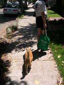 Conway on sidewalk