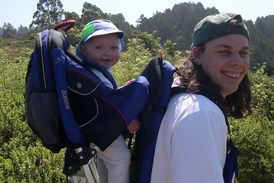 Kelly and her Daddy going hiking