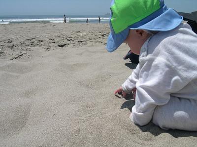 Kelly on Stinson beach