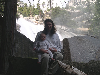 Kelly and her daddy at Mist falls