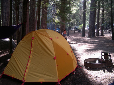 Our camp site before the thunder storm