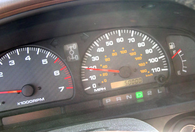The 4Runner reaches 50000 miles!