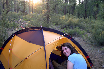 Our camp in Lassen National Forest