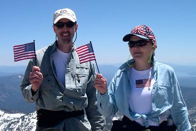 4th of July hikers on Lassen Summit