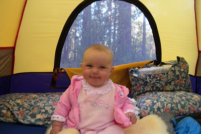 Kelly in the tent