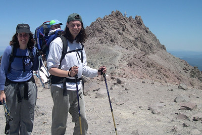 Patty, Kelly and Peter at the Lassen Summit (10,400ft)
