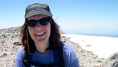 Patty at the Lassen Summit