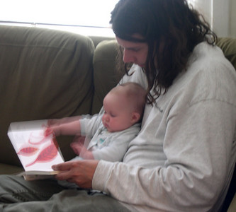 Peter reading to kelly