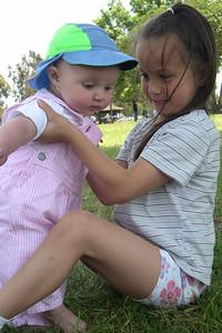 Kelly and Octavia at Stevie's birthday party