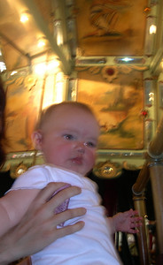 Kelly on the merry-go-round
