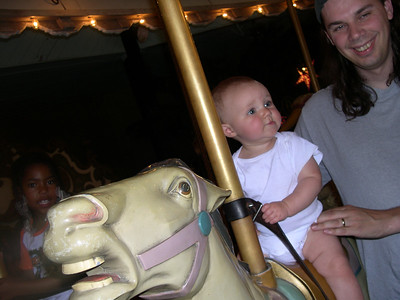 Peter and Kelly on the merry-go-round