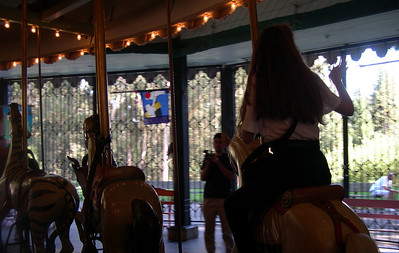 Anne on the merry-go-round