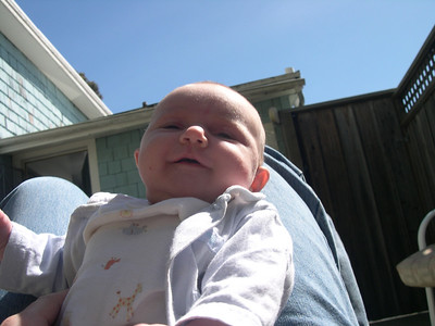Kelly in backyard