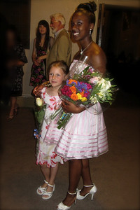 Kelly and her graduating 8th grade buddy Simone