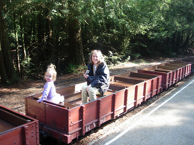 Anne and Kelly on the Tilden train