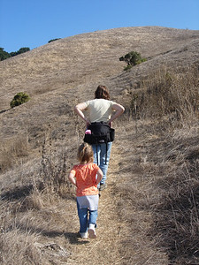 Patty and Kelly hiking