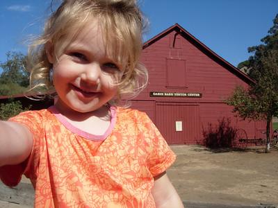 Kelly at the Garin Barn Vistor center