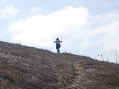 Patty at top of hill