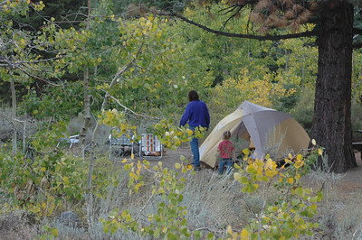 Campsite on 120 east of Yosemite