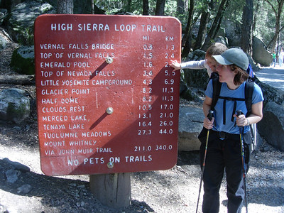 Kelly and Patty at trail sign