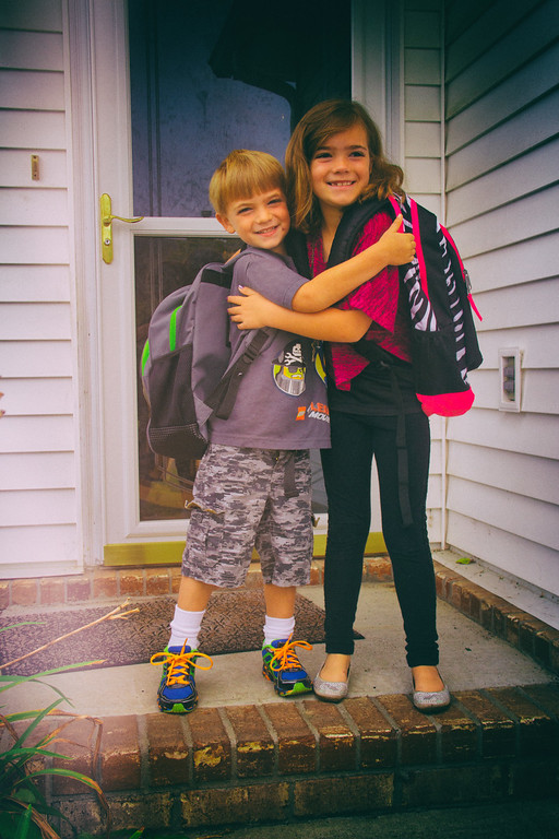 Kelton First day of Kindergarten - 08-11-2014