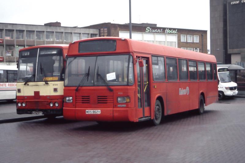 KCB SN38 East Kilbride Bus Station Feb 98