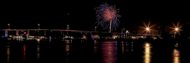 Kemah Bridge Fireworks #1