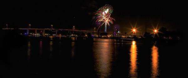 Kemah Bridge Fireworks #2