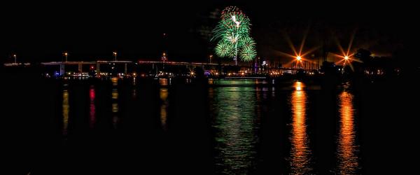 Kemah Bridge Fireworks #3