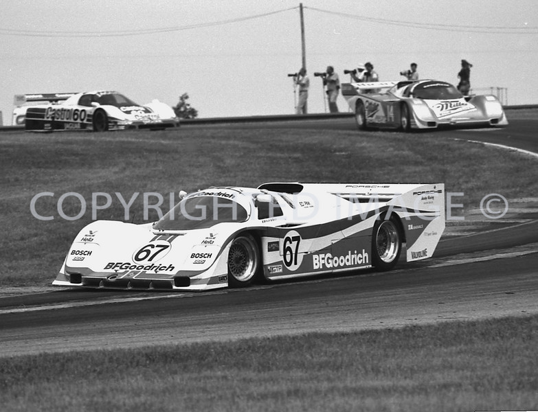 Mid Ohio, #67 Wollek Leads #14 Bell And #60 Brundle, 1988