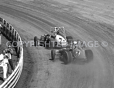 Hoosier Hundred, Unser Leads Foyt On Way To Victory, USAC, 1972