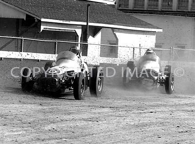 Hoosier Hundred, Branson Templeman fighting for position, 1961