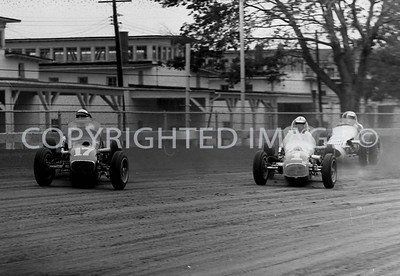 Hoosier Hundred, Foyt and Ward Chasing Marshman, 1964
