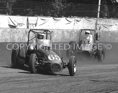 Hoosier Hundred, Jerry Miller Leads Ronnie Burke, USAC, 1972
