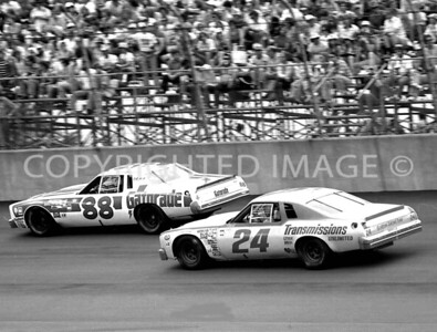 Michigan Int, #88 Darrell Waltrip #24 Cecil Gordon, NASCAR, 1978