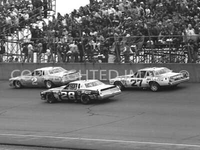 Michigan Int, Earnhardt Leading The Way For #28 Baker #27 Parsons, NASCAR, 1980