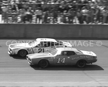 Michigan Int, #21 Jack Bowsher Faster Than #14 Larry Moore, USAC, 1976