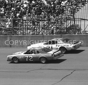 Michigan Int, #21 David Pearson Finishes One Spot Ahead Of #72 Benny Parsons, NASCAR, 1977