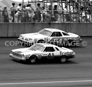 Michigan Int, #41 Grant Adcox & #54Lennie Pond, NASCAR, 1978